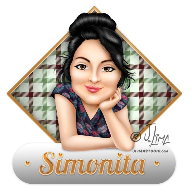 Simonita 5 rosto mascote personagem caricatura logotipo logo design desenho ilustração mulher garota face busto mascote jlima