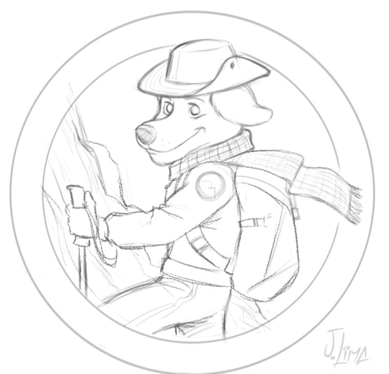 desenho logo design mascote personagem character ilustração jlima 3d cão cachorro dog mountain montanha caminhada logotipo brasao mascot sketch esboço