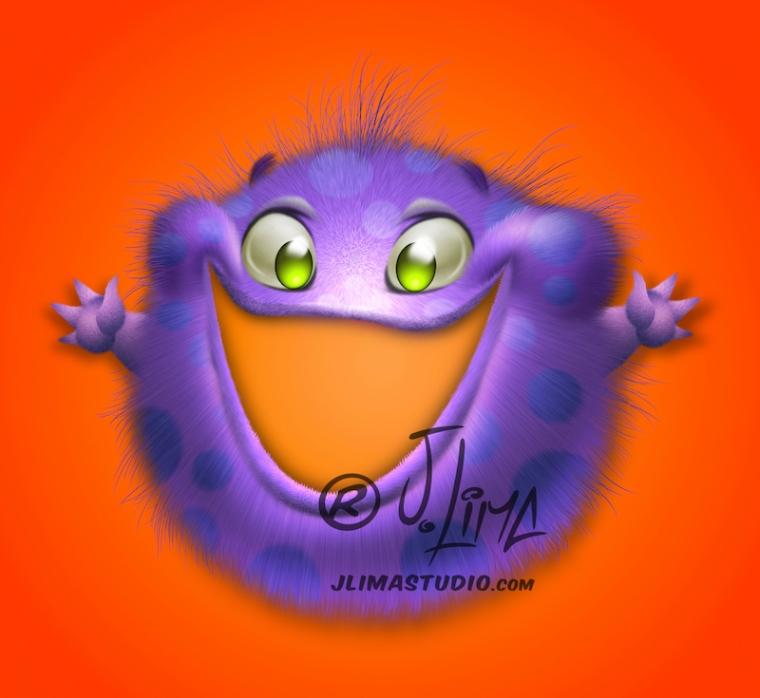 Miliopa mascotes personagens monstros monster monstrinhos fofinhos fofos mascote mascot design character jlima desenho 3d pintura digital photoshop pixelmator sketchbook conceptart cartum catoon salgadinho embalagem publicidade promocional roxo jlima
