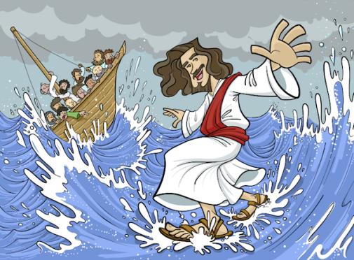 Jesus surfando